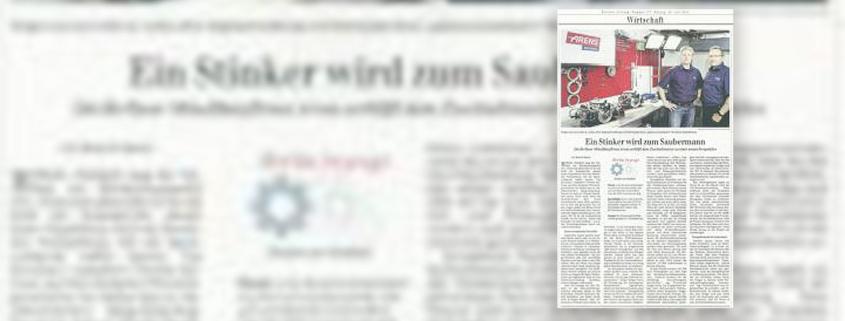 Berliner Zeitung – Arens verhilft dem Zweitaktmotor zu einer neuen Perspektive
